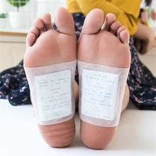10Pcs/Set Detox Foot Pads Bamboo Vinegar Natural Herbal Toxins Cleansing Adhesive Patches Plaster Improve Sleep Feet Stickers цена и фото