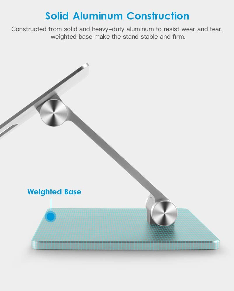 suporte smartphone tablet mesa portatil metal celular suporte para iphone ipad 02