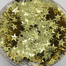50g/lot 10mm Star Light Gold Sequin For Crafts Small PVC Flake Loose Flat Garment Accessories