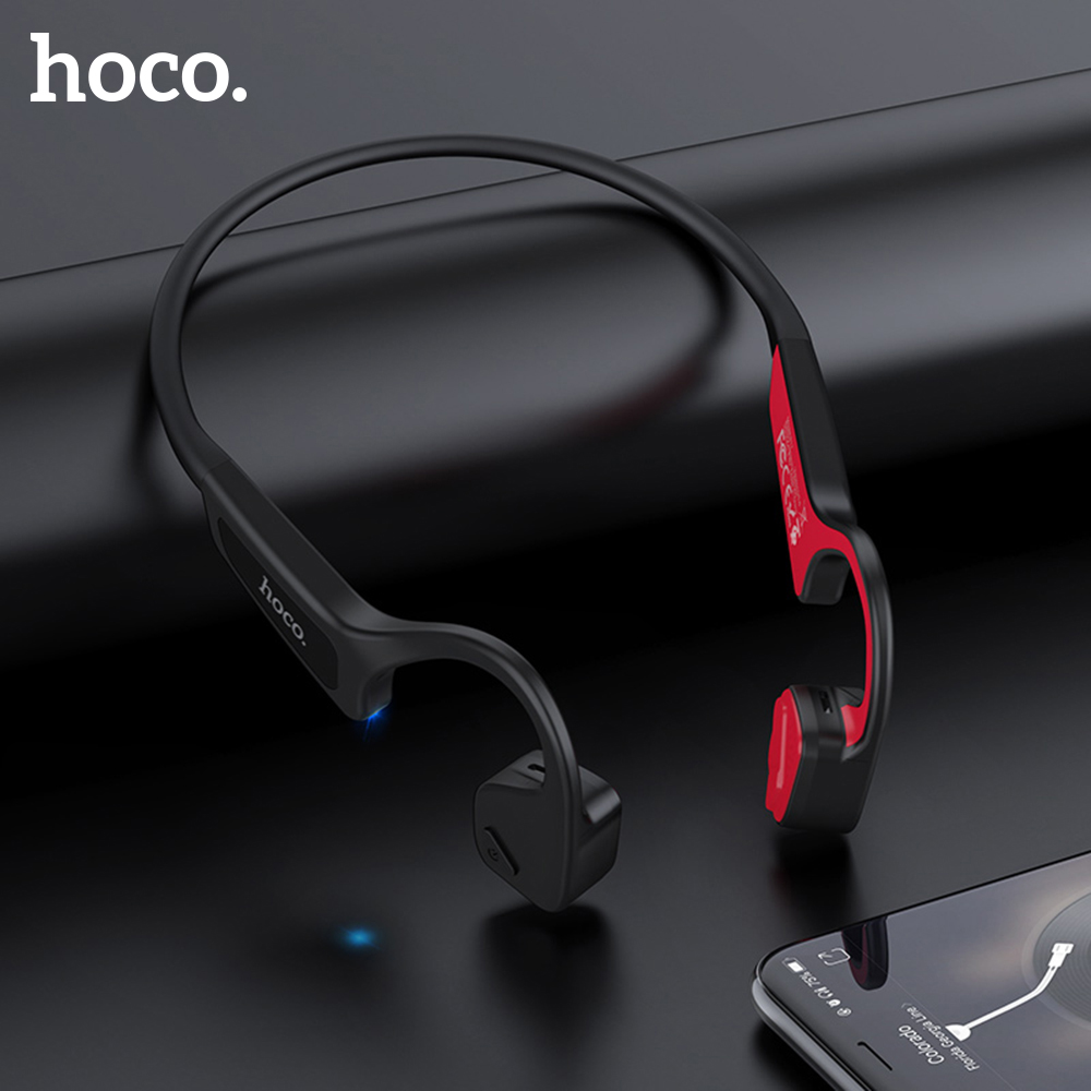 HOCO Bone Conduction Bluetooth Wireless Earphone Stereo Headset Sports Headphone Titanium Waterproof earphone Running Driving