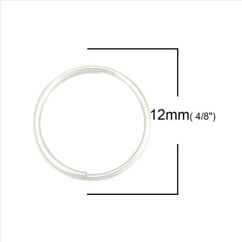 Baru 304 Stainless Steel Terbuka Cincin Temuan 12 Mm Diameter Ring Bulat untuk Fashion DIY Perhiasan Membuat Aksesoris, 200 Pcs