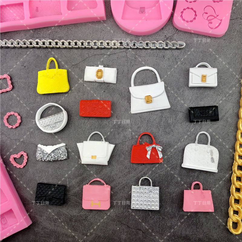 Handbag Purse Silicone Mold Cake Tool Fondant Chocolate Candy DIY Cupcake Topper Sugar Decorations Polymer Clay Craft Mother/'s Day
