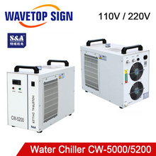 S & Een CW5000 CW5200 CW5202 Industrie Lucht Water Chiller Voor CO2 Laser Machine Koeling Cnc Spindel 80W 100W 130W 150W Co2 Laser Buis