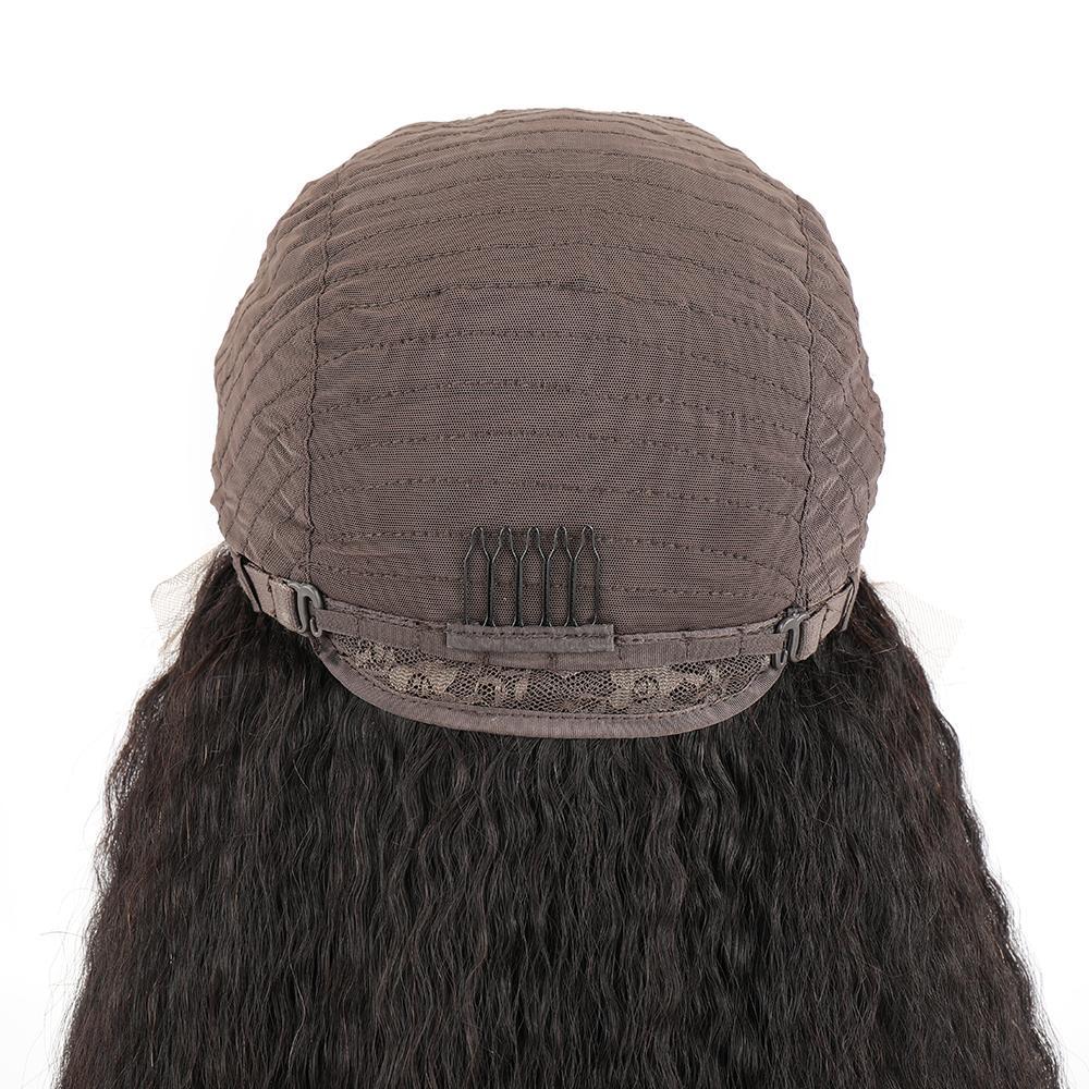 peruca afro cabelo humano sem cola peruca