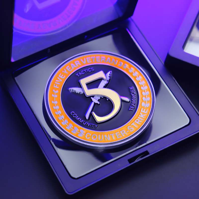 CSGO CS GO, дизайн Counter Strike, пятилетняя ветераная монета, медаль 5 лет/монета-5-летняя монета, ограниченный коллекционный подарок