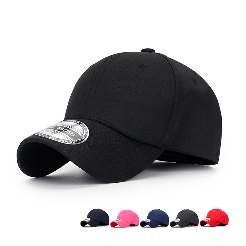 Summer Breathable Pinhole Stretch Hats Cloth Fitted Solid Color Baseball Outdoor Cap For Women Men Hip Hop Casquette Gorras Gift