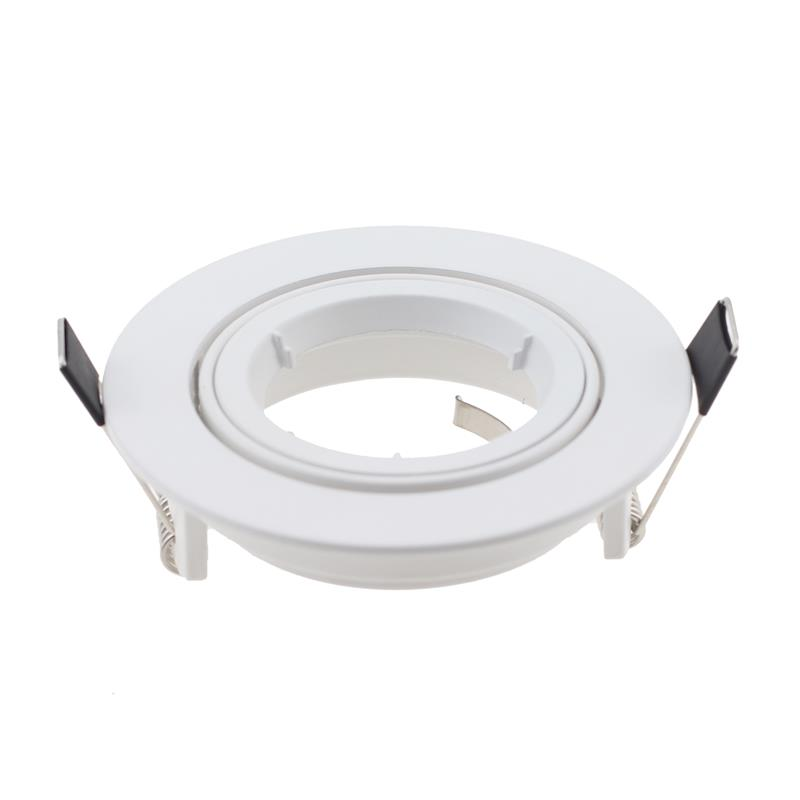 2pcs Embeded GU10 / MR16 Spot Light Frame Round Aluminum LED Ceiling Fixture Fitting Trim Kits