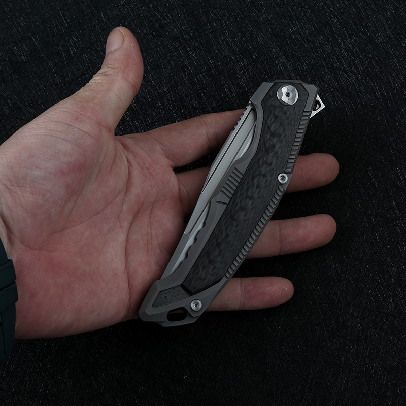 Tools : DICORIA fat dragon FERTILE SOIL Flipper folding knife M390 blade Titanium outdoor hunting Survival knives Camping knife EDC tool