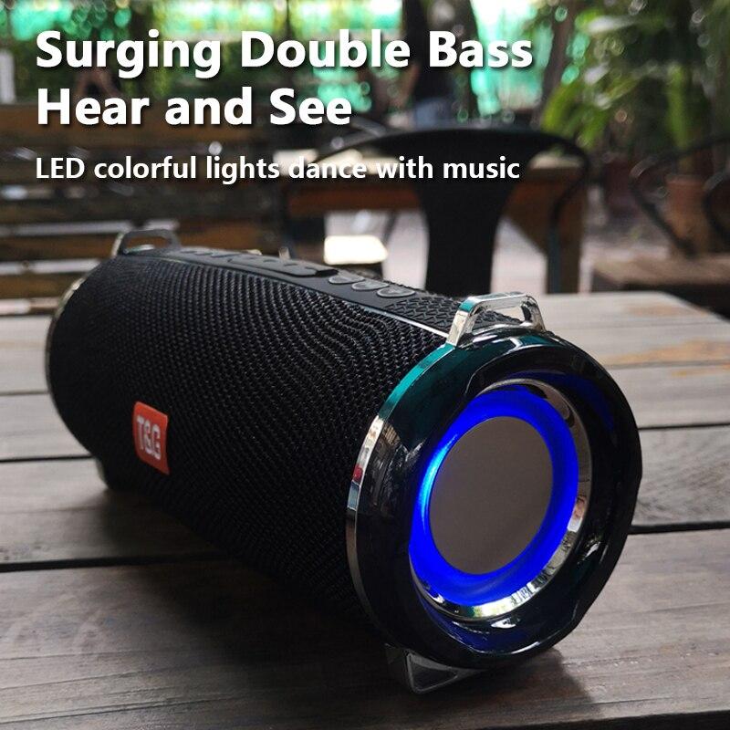 TG192 20 Вт светодиодный мигающий светильник Bluetooth динамик Портативный беспроводной бас Колонка 3D стерео музыкальный центр сабвуфер Саундбар FM TF USB|Портативные колонки|   | АлиЭкспресс