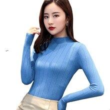 2019 New Autumn Winter Women Turtleneck Pullovers Sweater Kn