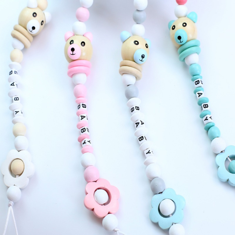 Newborn Baby Pacifier Clip Chain Letter Anti-fall Dummy Pacifier Chain Clip Holder Infant Nipple Feeding Hot