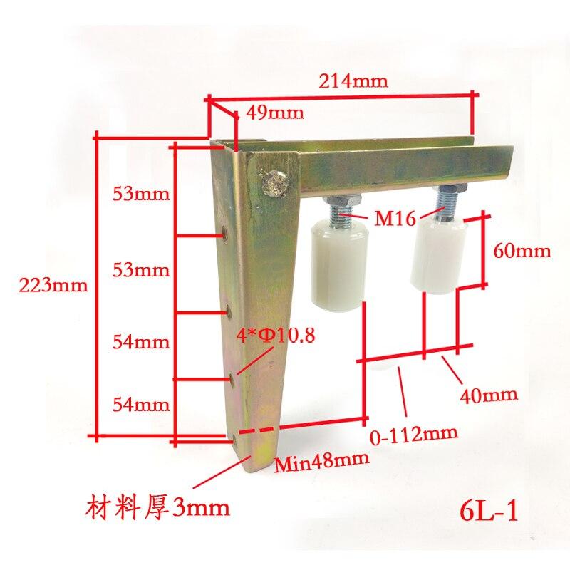Options de r/églage 8 en 1 Guide de roulement pour porte coulissante Avec vis Convient pour toutes les portes coulissantes. Accessoires de porte coulissante Roues r/ésistantes aux rayures