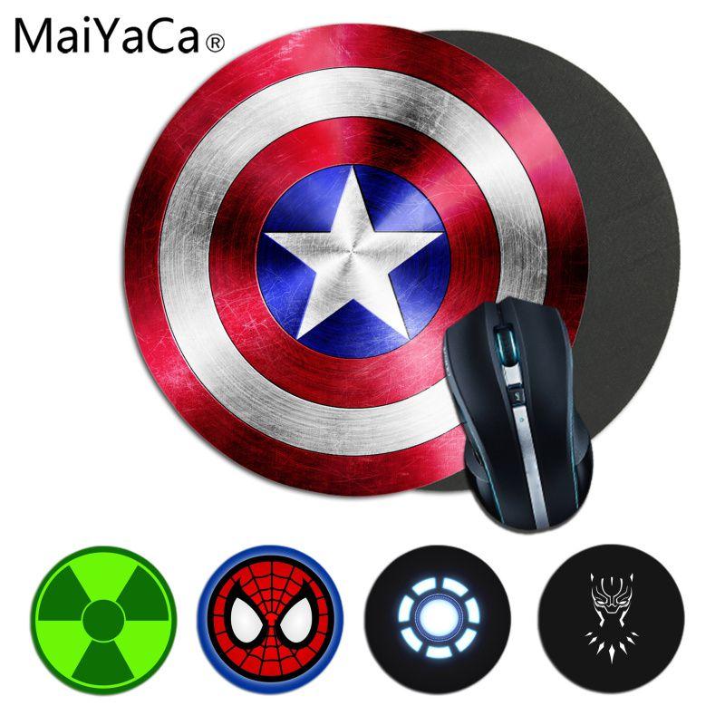 MaiYaCa Funny Marvel Superhero Captain America Iron Man Unique Desktop Pad Game Mousepad Smooth Writing Pad Desktops Mate Gaming