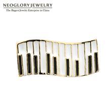 Neoglory Ювелирные изделия фортепиано клавиатура эмаль броши любителей музыки значок маленький мультфильм музыкальный инструмент нагрудные булавки подарок для друзей