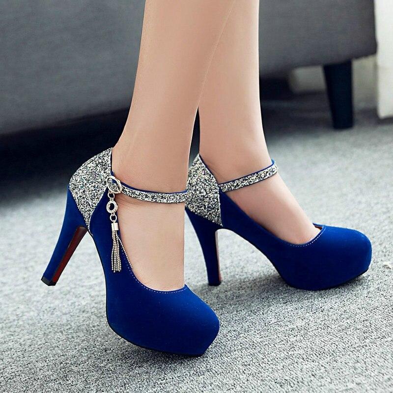 Shoes Woman 2020 Women Pumps Fashion Classic High Heels Shoes Sharp Head Platform Wedding Women Dress Shoes Plus Size 34-43