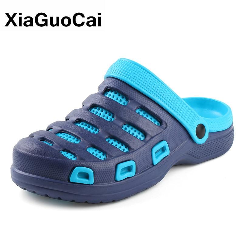 Men Slippers 2020 Summer Casual Home Slipper Quick Dry Clogs Beach Sandals Cheap Garden Shoes Mules Non-slip Bathroom Flip Flops