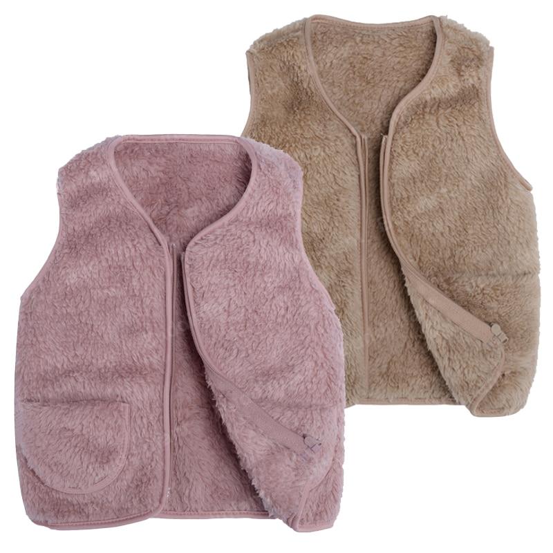 Toddler Girls Faux Fur Vest Cardigan Leopard Print Thick Waistcoat Outwear Winter Fleece Sleeveless Coat Jacket Baby Clothes