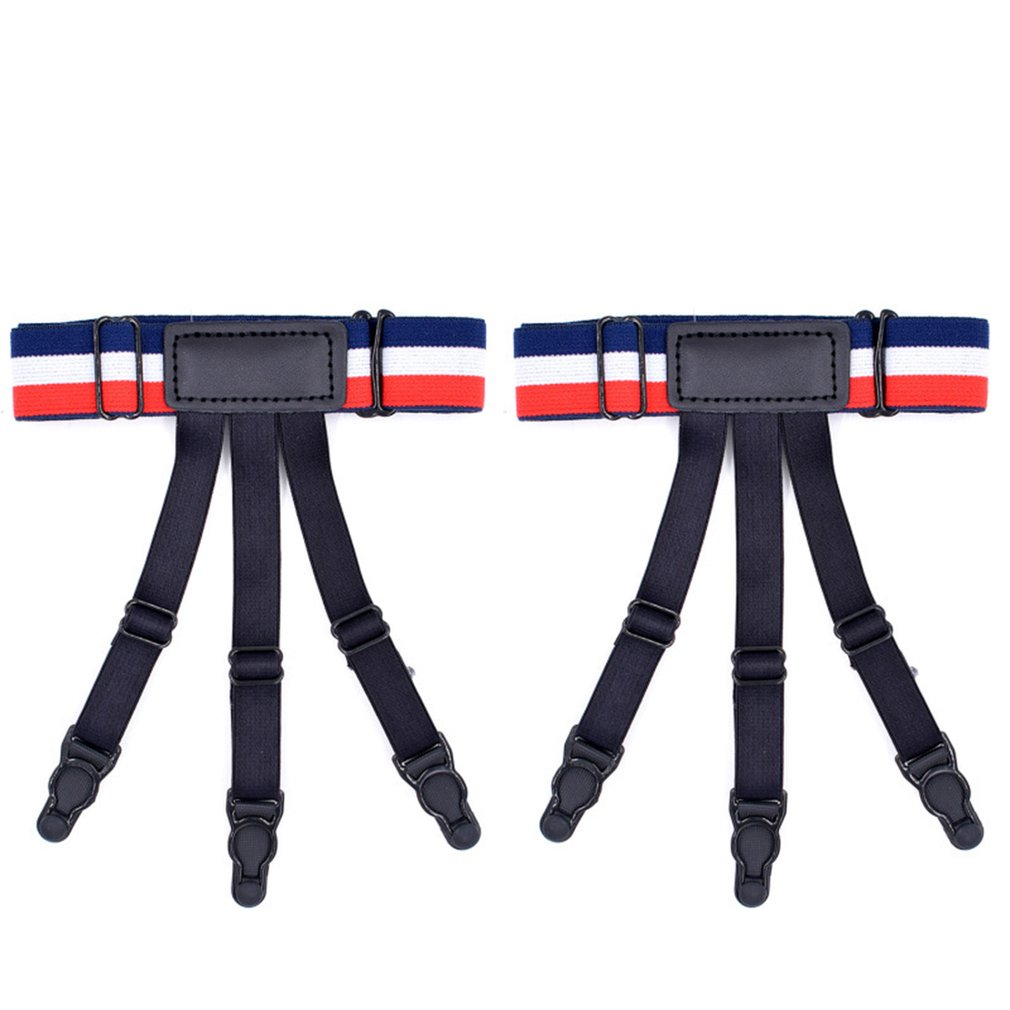 Unisex Shirt Stays Holder Elastic Leg Girdle Gothic Shirt Crease-resistant Thigh Ring Nylon Comfortable Suspender Shirt Garters