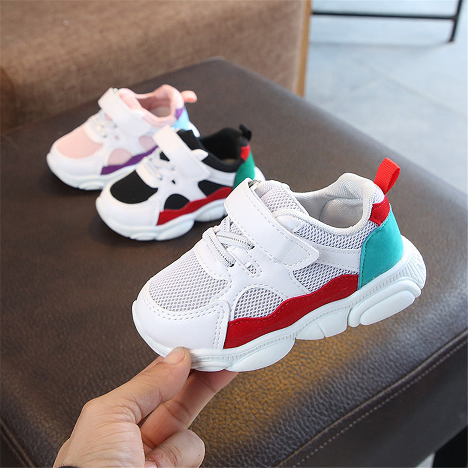 2020 Spring Autumn Children Sports Shoes Boys Breathable Running Sneakers Kids Outside Travelling Leather Shoes Basketball Shoe