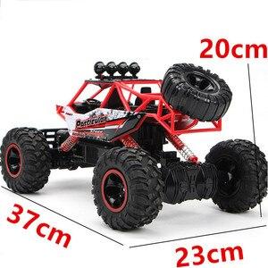 Image 3 - RC רכב 4 WD לכלוך אופני 2.4G רדיו שלט רחוק מכוניות בני צעצועי מרכבה כביש משאיות עבור ילדי דגם רכב צעצוע 37 CM 1:12