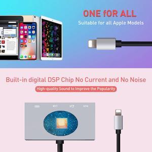 Image 4 - 8 контактный разъем для наушников Aux, USB аудио интерфейс, адаптер для вещания, синхронизации, зарядки, совместим с iOS 9 12 iPhone iPad Mini