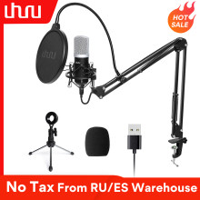 UHURU USB Microphone Kit 192kHz/24Bit Professional Podcast Condenser Mikrofon With Two Mic Holders for YouTube Gaming ASMR