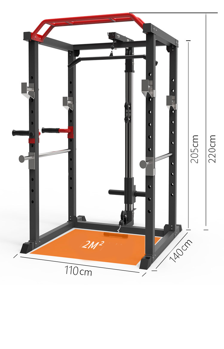 Multifunctional household squat rack, gantry frame, fitness barbell bench press, comprehensive training equipment source factory
