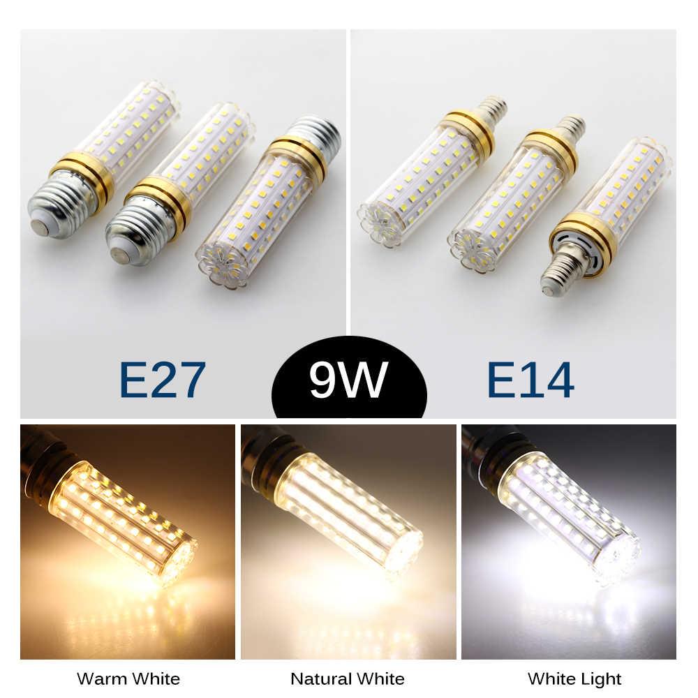 Светодиодный светильник-кукуруза AC86-265V E27 9 Вт 80 светодиодный s 18 Вт 129 светодиодный s высокая яркость без мерцания энергосберегающий светильник светодиодный светильник.