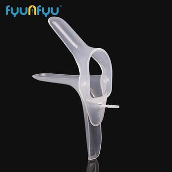 1PC jednorazowe wziernik pochwy Dilator tematyczne zabawki plastikowa obudowa pochwy Colposcopy Anal pochwy Dilator wziernik Sex zabawki