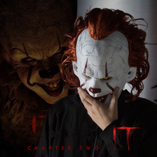 Halloween 2019 Joker Pennywise Mask Stephen King It Chapter Two 2 Cosplay Latex Scary Prop