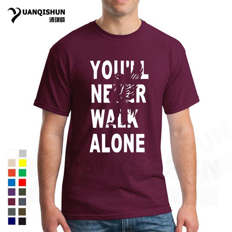 Liverpool Tshirt Youll Never Walk Alone Fans Tshirts Men's Fashion 16 Colors Short Sleeve T-shirt Unisex Plus 3XL Streetwear