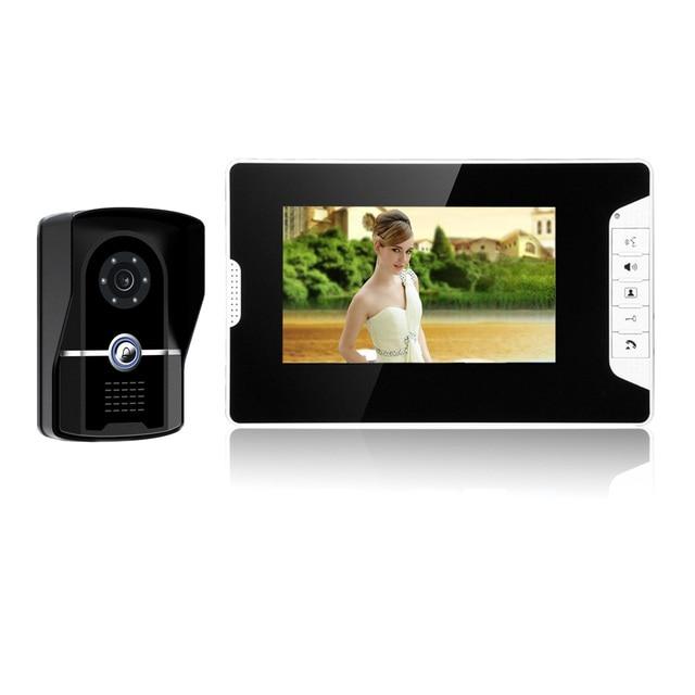 7 inç kablolu görüntülü kapı telefonu interkom sistemi IP55 sınıf su geçirmez kamera ile gece Visior