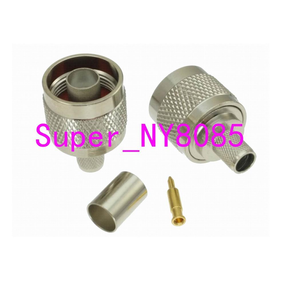 1pce Connector N Male Plug Crimp RG5 RG6 5D-FB LMR300 Cable Straight