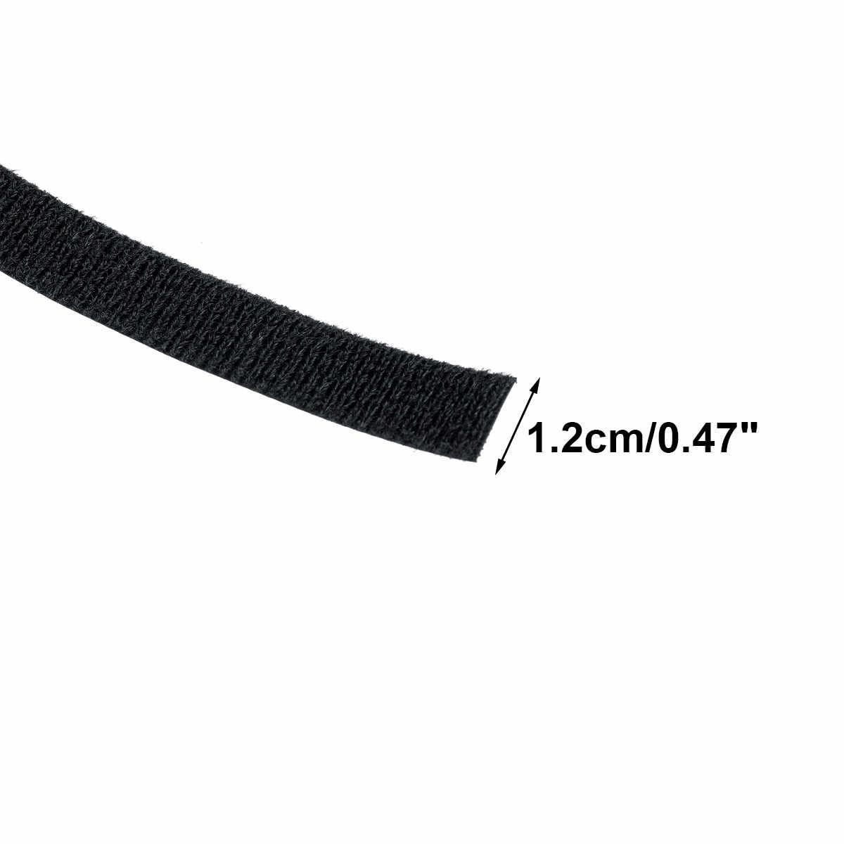 ナイロンケーブルタイ Velcros 粘着ワイヤーケーブルオーガナイザーコードワインダーマネージャーストラップ USB ケーブルホルダープロテクター 10M × 12 ミリメートル