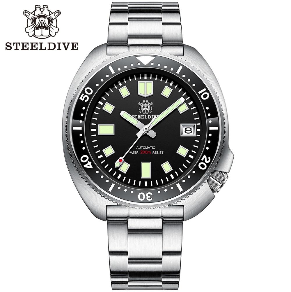 SD1970 Steeldive Brand 44MM Men NH35 Dive Watch with Ceramic Bezel