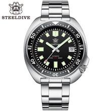 SD1970 Steeldive Brand 44MM Hombres NH35 Reloj de buceo con bisel de cerámica
