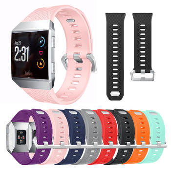 Soft Sport Silicone Sport Watch Bands Bracelet for Fitbit Ionic Smart Watch Strap band Adjustable Replacement Bangle Accessories for fitbit ionic sport watches straps silicone strap watch band bracelet replacement for fitbit ionic smart watch wristband belt