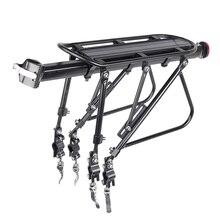 Deemount Heavy Duty Bicycle Luggage Carrier Rear Cargo Rack Stand 24 29 Bike Trunk 100 KGS Load Fit 4.0 '' Fat Bike Tire