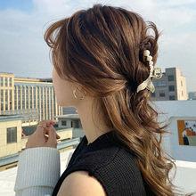 2021 New Hyperbole Big Pearls Crystal Hair Claw Clips Styling Barrettes for Women Hair Accessories Ornament Headdress