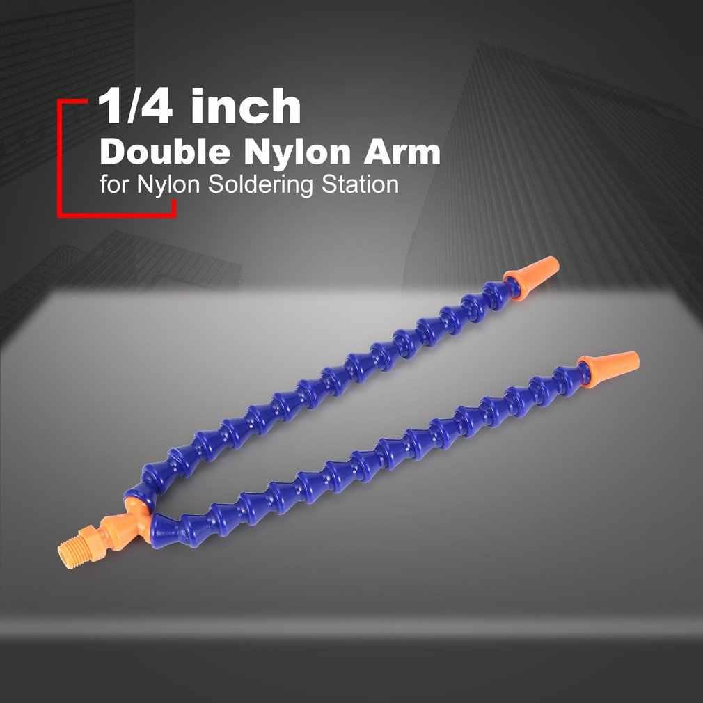 Nilon Lengan untuk Aluminium Alloy Solder Membantu Tangan Solder Besi Station Double Nilon Fleksibel Lengan Spare Part