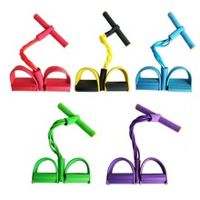 2020New Weight Loss fitness Equipment 4 tube Tension Trainer Sports Foot Expander Chest Pull Leg Latex Draw Rope Gymnastics