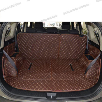 lsrtw2017 for kia carens luxury leather car trunk mat cargo liner 2006 2007 2008 2009 2010 2011 2012 2013 Rondo luggage boot rug