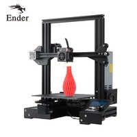 El más nuevo Ender-3 Pro 3D KIT de impresora DIY Creality 3D actualizado Cmagnet placa de construcción de CV placa magnética de impresión de fallo de potencia