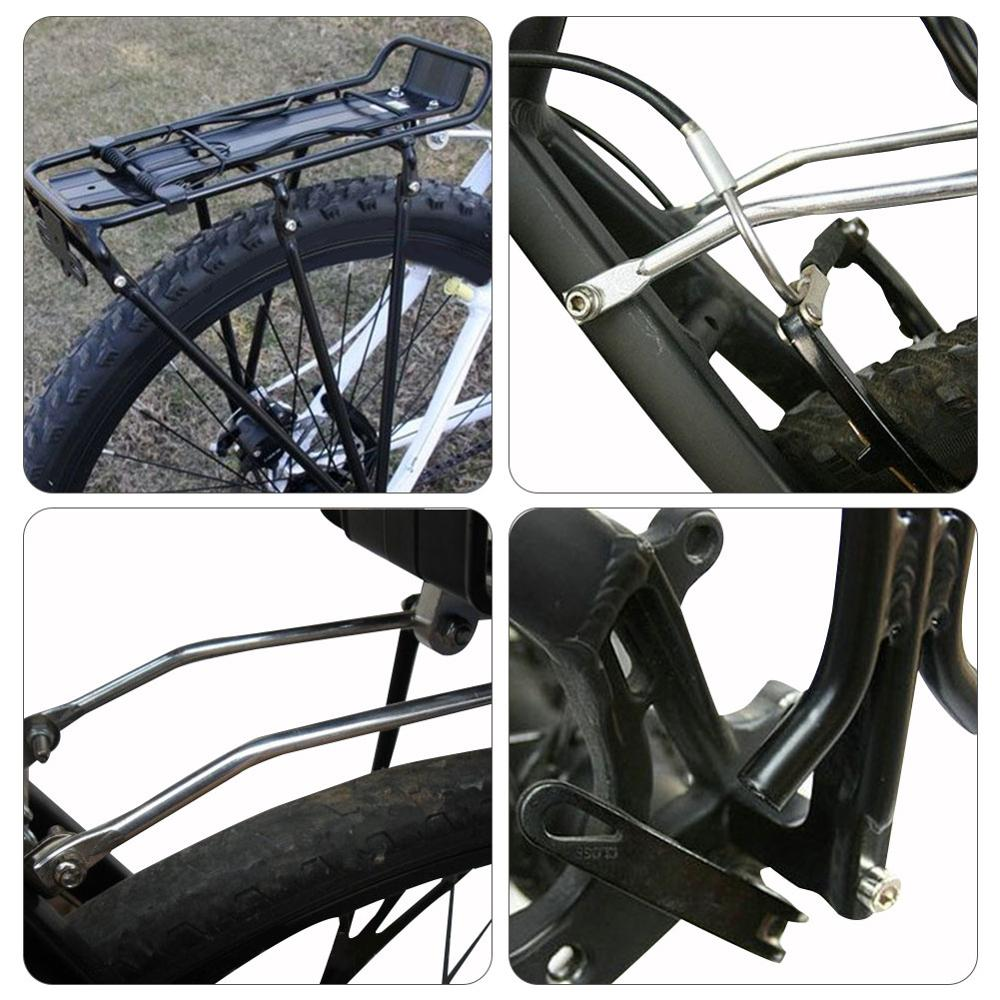 Road Bike Rear Rack 50KG Tail Light Luggage Seat Portable Bicycle Seat Post Rack