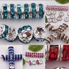 50 шт 6 мм Стразы Стекло Круглые бусины для самостоятельного изготовления ювелирных изделий браслет ожерелье