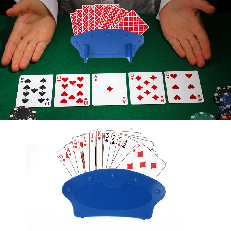 Playing Card Holder Lazy Poker Base Game Hand Free Christmas Party Poker Seat For Easy Play Christmas Birthday Party Toys image