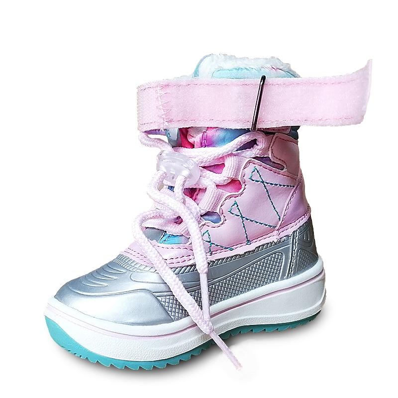 Новинка; 1 пара детских зимних теплых ботинок для мальчиков; детская обувь; дешевая обувь для мальчиков