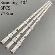 3pcs x LED תאורה אחורית רצועות עבור Samsung UA40FK21EAJXXZ HG40ND460 ue40j5200 V5DN 395SM0 R2 LM41 00121X BN96  37622A 8 LEDs 774mm