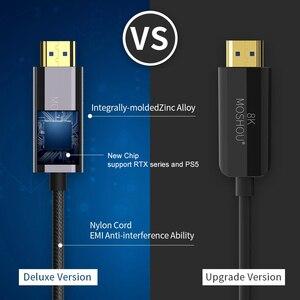 Image 2 - 8K Optische Faser HDMI 2,1 Kabel ARC HDR 4K 120Hz High Definition Multimedia Interface Kabel für PS5 Samsung QLED TV Verstärker