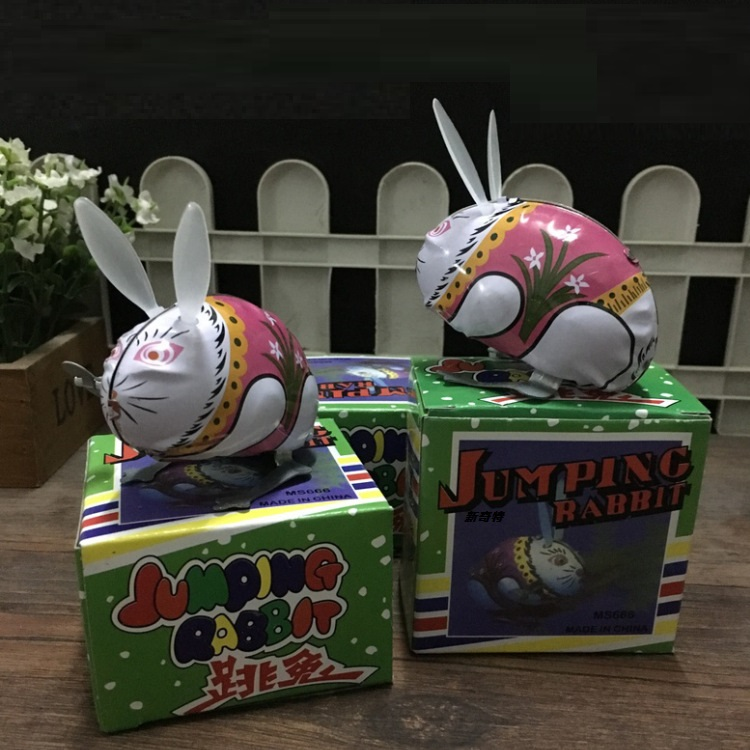 1Pcs Kids Classic Tin Wind Up Clockwork Toys Jumping Frog Rabbit Vintage Toy For Children Boys Girls Educational Retro Toys